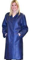 Lyn Leather Women's Royal Blue Danubia Leather Long Trench