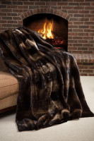 Wolfie Furs Exotic Canadian Otter Throw Blanket