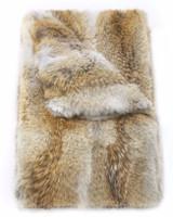 Pologeorgis Soft Camel Coyote Fur Throw Blanket