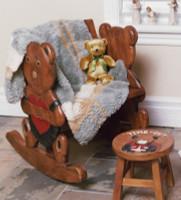 Paula Lishman Hand Knit Sheared Beaver/Cashmere Baby Blanket