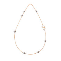 Pomellato Nudo Obsidian Station Necklace with Ring Clasp