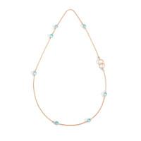 Pomellato Nudo Sky Blue Topaz Station Necklace with Ring Clasp