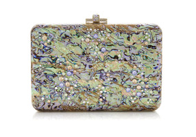 Judith Leiber Couture Slim Slide Under The Sea Gold Clutch