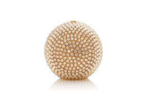 Judith Leiber Couture Sphere Champagne Bling Minaudière Clutch