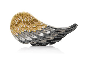 Judith Leiber Couture Crystal-Covered Wing Aloft Crystal Clutch