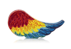 Judith Leiber Couture Crystal-Covered Wing Macaw Crystal Clutch