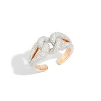 Pomellato 18K Rose Gold Diamond Tango Cuff Bracelet, 1.17 Ct.
