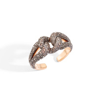 Pomellato 18K Rose Gold Brown Diamond Tango Cuff Bracelet, 1.17 Ct.