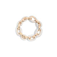 Pomellato Oblong Link 18K Rose Gold Diamond Tango Bracelet