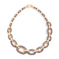 Pomellato Oblong Link 18K Rose Gold Brown Diamond Tango Necklace