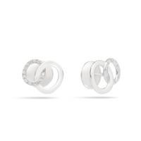 Pomellato The Maison's Iconic Chain White Gold Diamond Brera Earrings