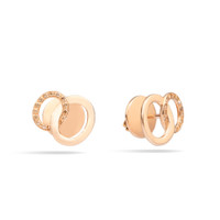 Pomellato The Maison's Iconic Chain Rose Gold Diamond Brera Earrings