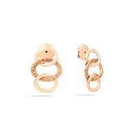 Pomellato Brera The Maison's Iconic Chain Rose Gold Diamond Earrings