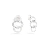 Pomellato Brera  Maison's Iconic Chain White Gold Diamond Earrings