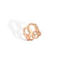 Pomellato The Maison's Iconic Chain Rose Gold Diamond Brera Ring