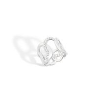 Pomellato The Maison's Iconic Chain Rose White Diamond Brera Ring
