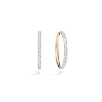 Pomellato 18K Rose Gold Oval Hoop Diamond Tango Earrings