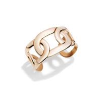 Pomellato 18K Rose Gold Tango Flat Link Cuff Bracelet