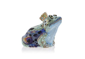 Judith Leiber Couture Frog Prince Charming Crystal Clutch