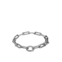 John Hardy Sterling Silver Long Link Amulet Connector Bracelet