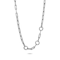 John Hardy Sterling Silver Long Link Amulet Connector Necklace