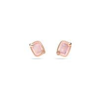 Pomellato 18K Rose Gold Pink Quartz Ritratto Earrings