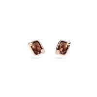 Pomellato 18K Rose Smoky Quartz Ritratto Earrings