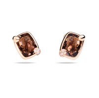 Pomellato 18K Rose Smoky Quartz Ritratto Earrings