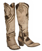 Old Gringo Belinda White/Brown Boots
