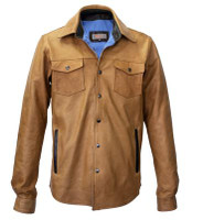 Remy Leather Men's Overskirt Sand/Cocoa Jacket
