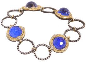 Armenta Lapis and Diamond Bracelet