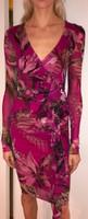 Fuzzi Azalea Jungle Animal Print V-Neck Dress