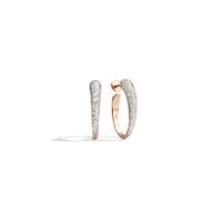 Pomellato 18K Rose Gold Oval-Shape Hoop Diamond Tango Earrings
