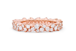 Paul Morelli Confetti Pink Gold and Diamond Small Ring