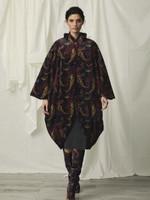 Chiara Boni La Petite Robe Jewel Velvet Print Coat