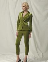 Chiara Boni La Petite Robe Goldie Velvet Suit Jacket