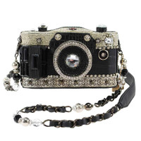 Mary Frances Snapshot Embellished Crossbody Camera Handbag