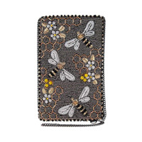 Mary Frances Bee Awesome Beaded Crossbody Phone Bag Purse