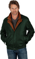Remy Men's Double Collar Leather Jacket Hunter/Dakota