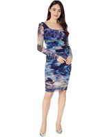 Fuzzi Floral Print Long Sleeve Dress