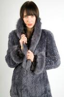Paula Lishman Hand Knit Beaver Pelted Shawl Collar Stroller