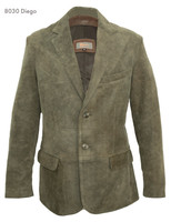 Remy Men's Two Button Leather Blazer-DIEGO/RUSTIC
