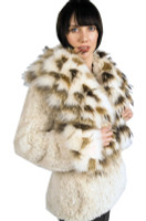 Paula Lishman Hand Knit Beaver Button Front Jacket