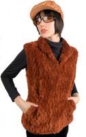 Paula Lishman Hand Knit Beaver Tuck Waist Vest