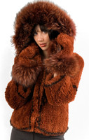 Paula Lishman Hand-Knit Sheared Beaver with Fox Fur Shortie Parka