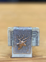 Comstock Heritage Sterling Silver/14K Gold Deer Money Clip
