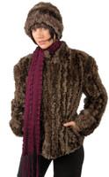 Paula Lishman Hand Knit Beaver Tuck Waist Jacket