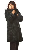 Paula Lishman Hand-Knit Sheared Beaver Eden Coat