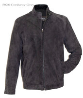 Remy Leather Men's Lightweight Corduroy Jacket- GREY