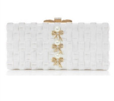 Judith Leiber Couture  Rectangle Basketweave Clutch
